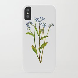 Forget-me-not flowers watercolor art iPhone Case