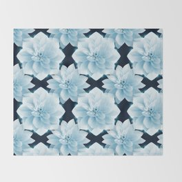 Lotus Flowers Throw Blanket