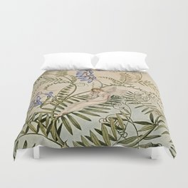 """Fairy Resting Among Flowers"" by Amelia Jane Murray Duvet Cover"