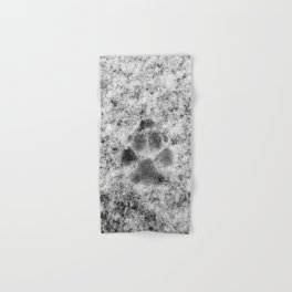 Paw Print in Snow Hand & Bath Towel