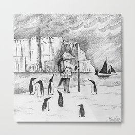 Antarctic explorer Metal Print