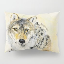 Totem Wolf: Gray wolf (c) 2017 Pillow Sham