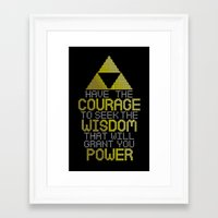 motivational Framed Art Prints featuring Triforce Motivational by JesseThomas