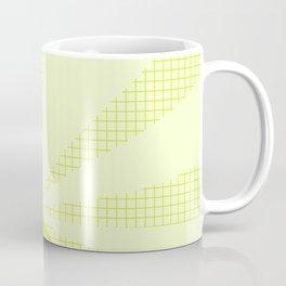 Geometric Lime Grid Collage Coffee Mug