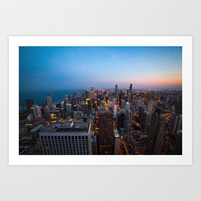 Chicago Skyline - Dusk Art Print