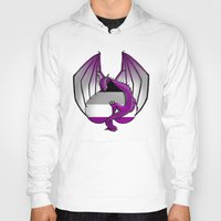 asexual Hoodies featuring Asexual Wyvern by (i)Rene