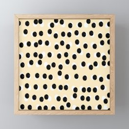 Fanky dots Framed Mini Art Print