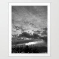 Dark Skies.... Art Print