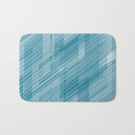 The Blue Hash - Geometric Pattern Bath Mat