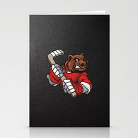hockey Stationery Cards featuring HOCKEY by frail
