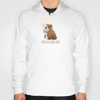 bulldog Hoodies featuring Bulldog by 52 Dogs