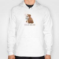 english bulldog Hoodies featuring Bulldog by 52 Dogs
