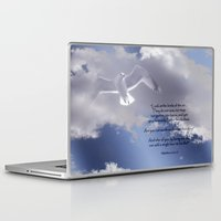 bible verses Laptop & iPad Skins featuring Seagull with Matthew 6:26-26 Verses by Photos and Images by Corri