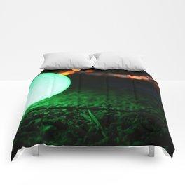 Light and Focus (Green) Comforters