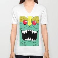 thundercats V-neck T-shirts featuring Mumm-Ra - Thundercats by Dukesman