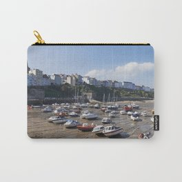 Boats in Tenby Harbour at low tide. Wales, UK. Carry-All Pouch