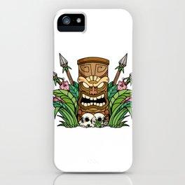 Awesome Tiki Bar Gift Print Hawaiian Island Vacation Product iPhone Case
