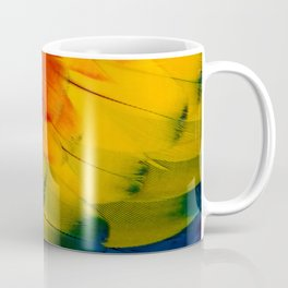 Texture: Colorful Parrot Feathers Coffee Mug