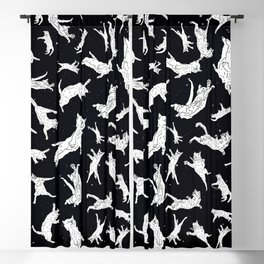 Flying Space Cats Blackout Curtain