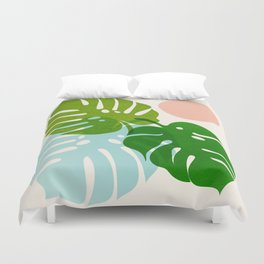Abstraction_FLORAL_NATURE_Minimalism_001 Duvet Cover