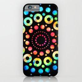 Multi-Color Mandala Tie-Dye Circle Shapes iPhone Case