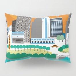 Austin, Texas - Skyline Illustration by Loose Petals Pillow Sham