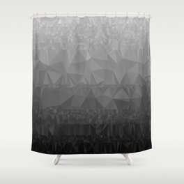 Black and Grey Ombre - Flipped Shower Curtain