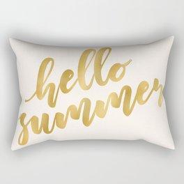 Hello Summer ~ Metallic Gold Rectangular Pillow