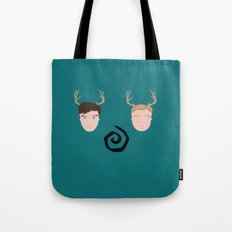 Rust & Marty from True Detective Tote Bag
