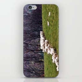 Cattle Eating Hay on a Hill iPhone Skin