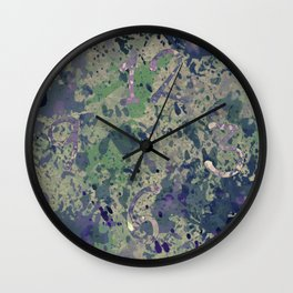 Pale pastels Wall Clock