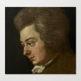 Wolfgang Amadeus Mozart (1756 -1791) by Joseph Lange Canvas Print