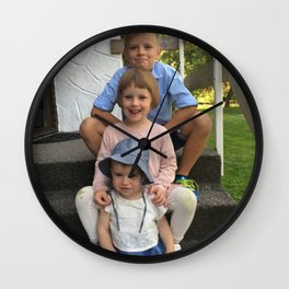 for eric and eva Wall Clock