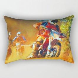 Motor Bike Sport Race Painting Rectangular Pillow