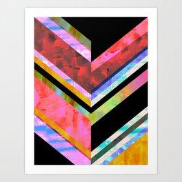 Hana Chevron Art Print