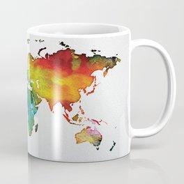 Multicolor World Map 04 Coffee Mug