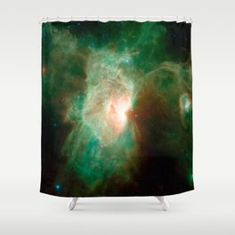 the horse becomes the phoenix | space #04 Shower Curtain