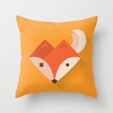 Orange Geo Fox Throw Pillow