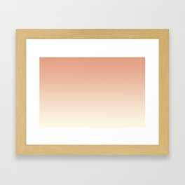 Pratt & Lambert's Color of the Year 2019 Earthen Trail Pink 4-26 and Dover White 33-6 Ombre Gradient Framed Art Print