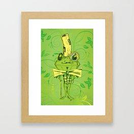 Je suis Monsieur Grenouille Framed Art Print