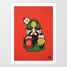 Fu Lu Shou Series: Fu (1 of 3) Art Print