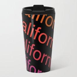 California - retro 70s vibes minimal typography cali socal colorful minimalist art Travel Mug