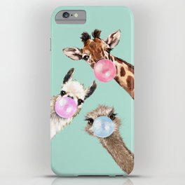 Bubble Gum Gang in Green iPhone Case