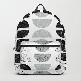 Marble Half-Moons in B&W Backpack