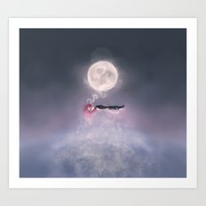 Moonsende / Back to Home Art Print