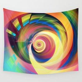 Spinning rainbow Wall Tapestry