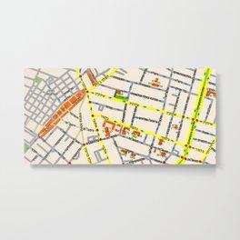 Tel Aviv map - Shenkin Area (Hebrew) Metal Print