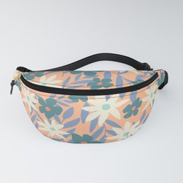 Just Peachy Floral Fanny Pack