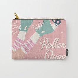 Roller skates girl 02 Carry-All Pouch