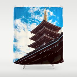 Asakusa Past and Present Shower Curtain